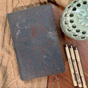 1891 Vintage Green and Red Embossed Hardcover Book